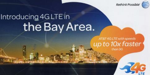 AT&TのLTEがサンフランシスコにも