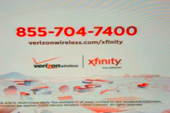 Verizon-ComcastバンドルのCM