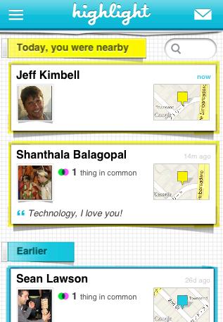近くにいた人が誰かを教えてくれるアプリ