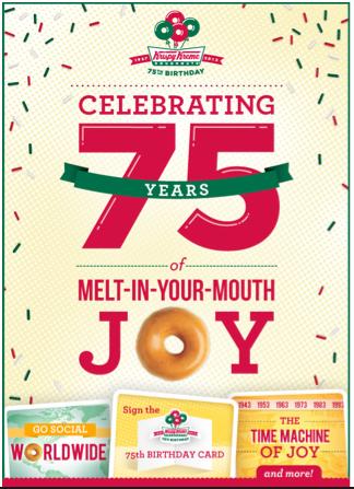 Krispy Kremeが75周年