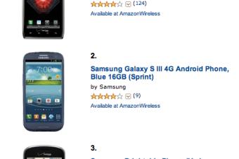 SprintのGalaxy S Ⅲがよく売れている