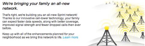 Sprintがネットワークを刷新