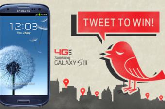 VerizonのGalaxy S ⅢがTwitterで当たる