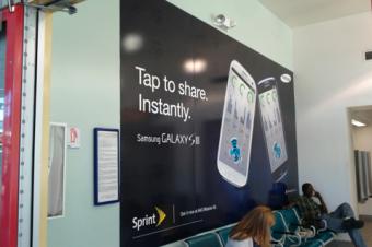 Galaxy S Ⅲの広告が活発