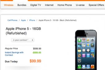 AT&TがiPhone 5を99ドルで販売
