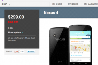 Nexus 4が予想に反して好評?