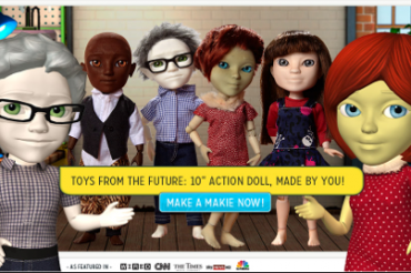 3Dプリンタで人形を製造販売