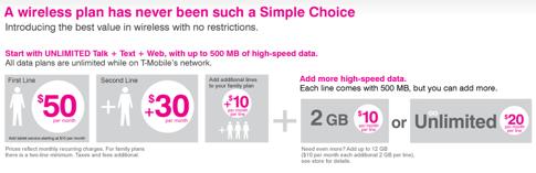 T-Mobileの「アンキャリア」料金