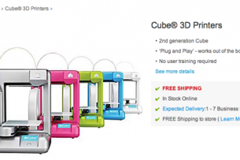 Staplesで3Dプリンタ販売開始
