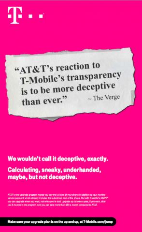 T-MobileがAT&Tの「Next」を猛攻撃