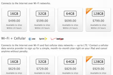 AT&Tが1日5ドルのタブレット用料金新設
