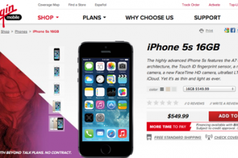 Virgin MobileがiPhone 5s/5cを値引き販売