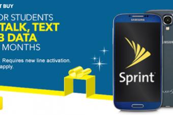 Sprint/Best Buyが学生オール無料セール