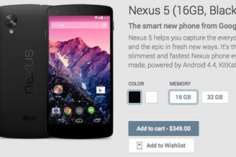 T-MobileのNexus 5は100ドル高い