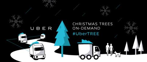Uberがクリスマスツリーを配達