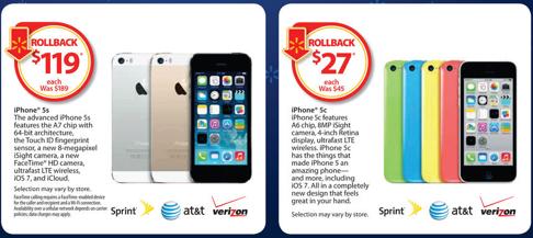 iPhone 5s/5cのセールが活発化