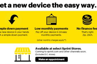 Sprintが端末早期買換え制度を復活