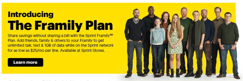 Sprintが新ファミリープランを導入