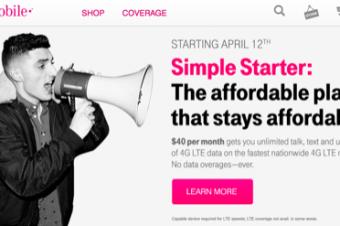 T-Mobileが月40ドルの良心的なプランを導入