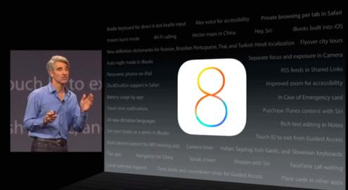 AppleのWWDC基調講演の動画より