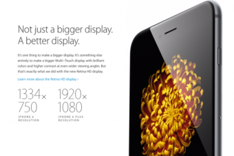 iPhone 6 Plusのディスプレイが最高との評価