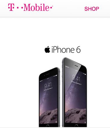 T-Mobileのホームページより