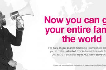 T-Mobileが国際通話の新プランを導入