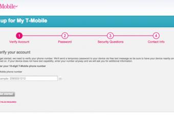 T-Mobileのサイトでアカウントが登録できない
