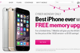T-MobileのサイバーマンデーセールはiPhone 6