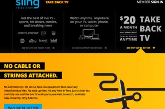 Sling TVがやって来た