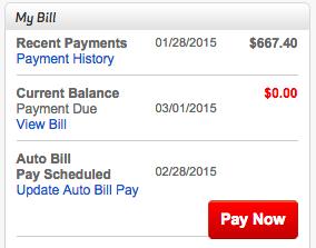 Verizonから0ドルの請求書