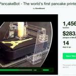 KickstarterのPancakeBotプロジェクトページより