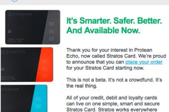 スマートなクレジットカードがやっと始動したが