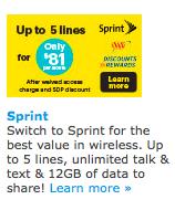 SprintのAAAメンバー割引