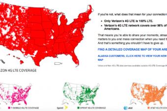 Verizonが他社の欠点を指摘