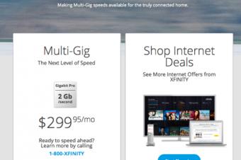 Comcastの超高速ネットは月300ドル