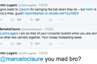 SprintとT-Mobileがプランのことで口論