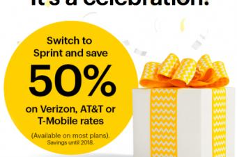 Sprintがネットワークの高速化を祝う
