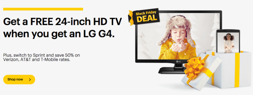 SprintでLG G4を買うとテレビが付いてくる