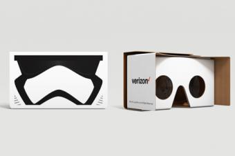 Verizonが『スターウォーズ』の段ボールVRメガネを無償配布