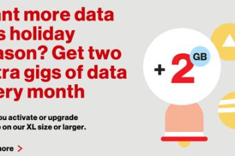 Verizonが年末商戦で毎月2GBを永久無料に