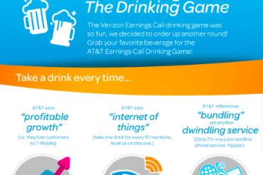 AT&Tの決算発表でも酒呑みゲーム
