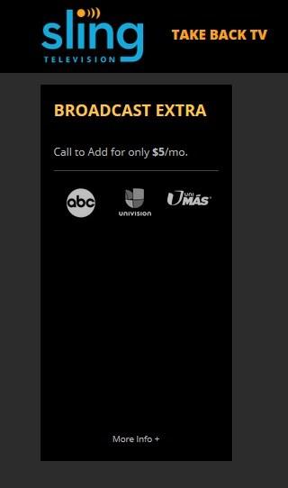 Sling TVのチャンネルにABCが追加