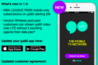 Verizonがgo90のデータを無料化