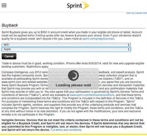 Sprintの「Buyback」サイトより