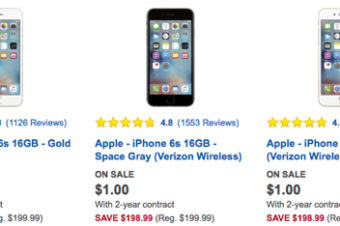 Best BuyがiPhone 6s値引きセール