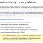 「advertiser-friendly」なコンテンツのガイドライン(YouTubeのヘルプページより)