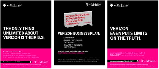 T-Mobileが反Verizonキャンペーンを開始