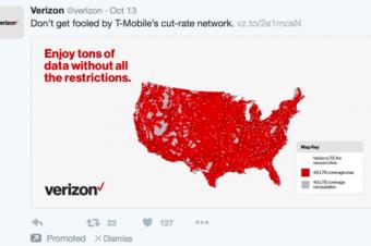 間が悪かったVerizonの宣伝