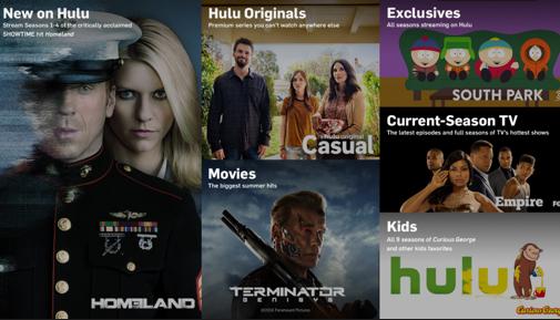 Huluのホームページより